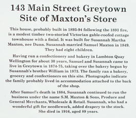 Former Maxton Store site in Greytown
